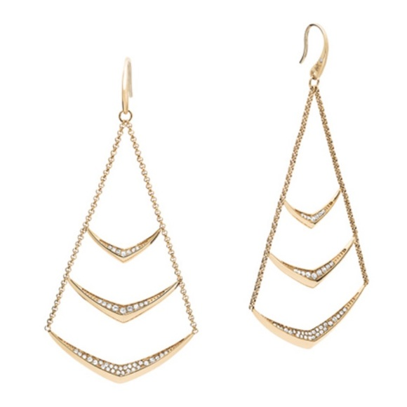 Michael kors jewelry new authentic mk gold tone chandelier new authentic mk gold tone chandelier earrings aloadofball Image collections